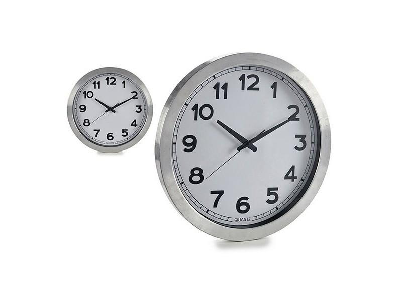 Horloges murales et de table moderne horloge murale argent 50 50 cm
