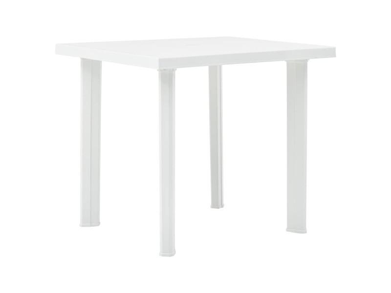Stylé mobilier de jardin serie sucre table de jardin blanc 80x75x72 cm plastique