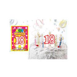 Bougies chiffres anniversaire - bougies chiffres anniversaire 18 - bougies chiffres anniversaire 18