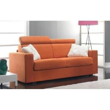 Canape 3 4 Places Faster Tweed Orange Convertible Ouverture Rapido