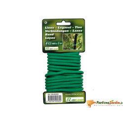 Lien pour plantations en fil métallique gaine 6,5mm x 5m