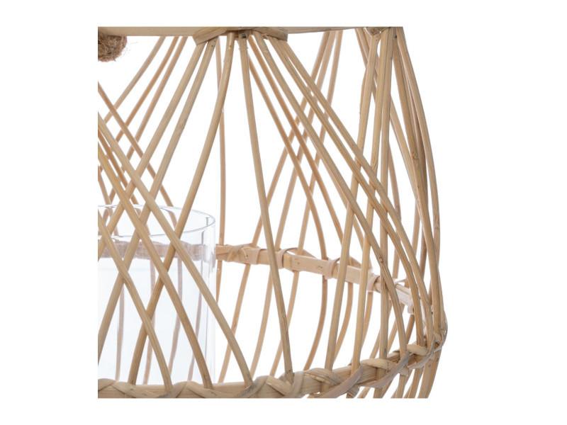 Atmosphera Lanterne Photophore Panier en Bambou H 31 cm Terre Sauvage