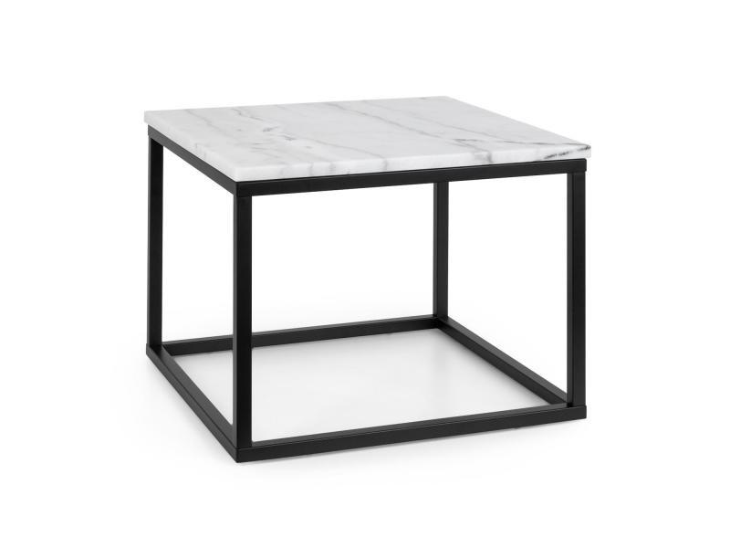 Besoa volos t50 table basse pour intérieur & extérieur - 50x40x50 cm - plateau marbre noir & blanc GDMC1-Volos T50