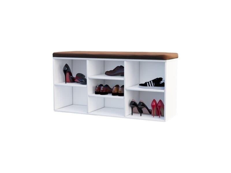 Meuble A Chaussures Meuble D Entree Modro 103 Cm Blanc Avec