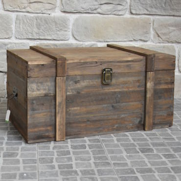 Grand coffre de rangement bouteille table basse bois 90 cm x 56 cm x 48 cm - Vente de Coffre et ...