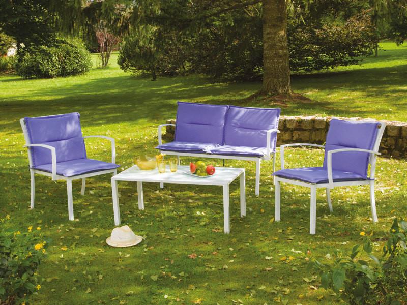 Salon de jardin avec coussins 96 x 50 x 42 cm - Vente de Salon de ...