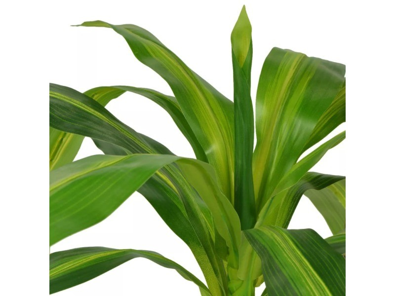 Icaverne - fleurs et plantes artificielles ligne plante artificielle avec pot dracaena 100 cm vert