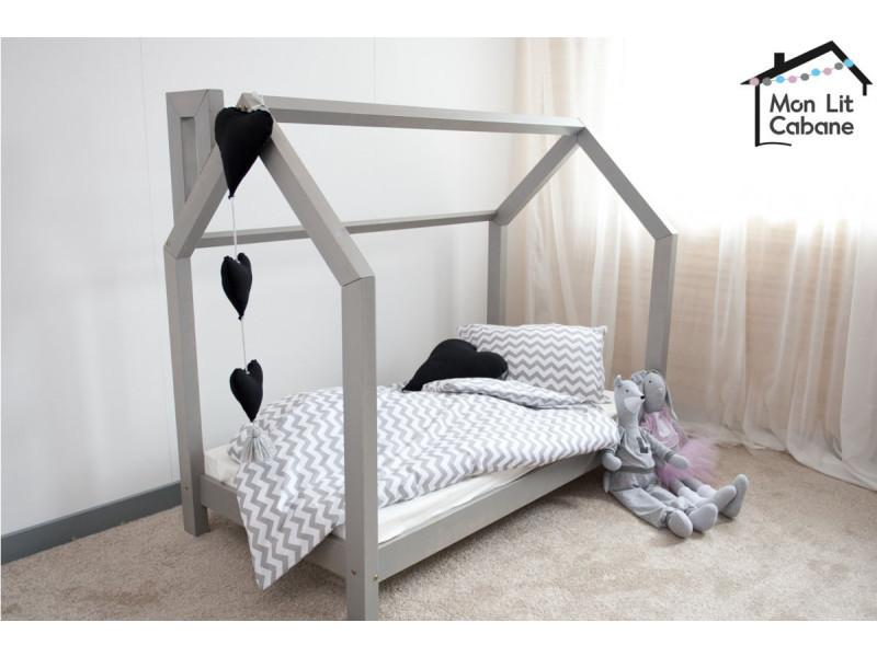 cool fabulous lit cabane c gris x sommier with lit petite. Black Bedroom Furniture Sets. Home Design Ideas