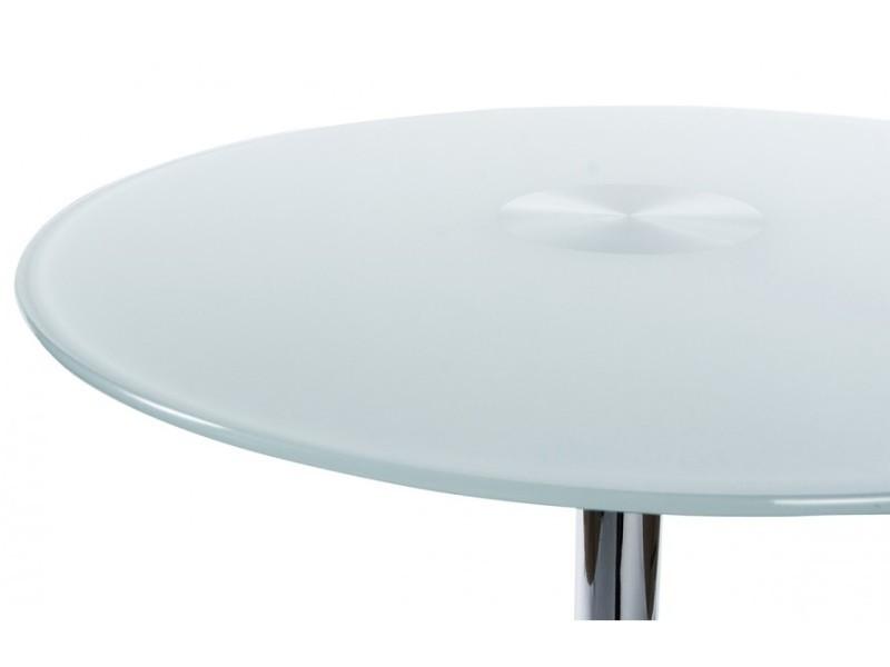 Table bar design blanc vente de table conforama