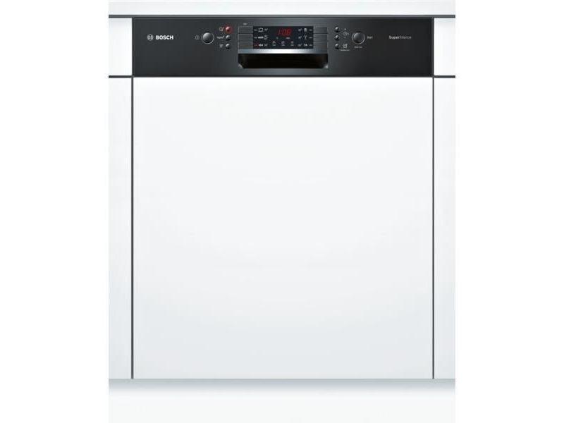 Lave-vaisselle 60cm 12c 44db a++ intégrable avec bandeau noir - smi46ab04e BOSSMI46AB04E