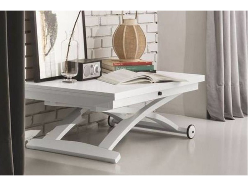 Table basse relevable extensible italienne mascotte blanche ...