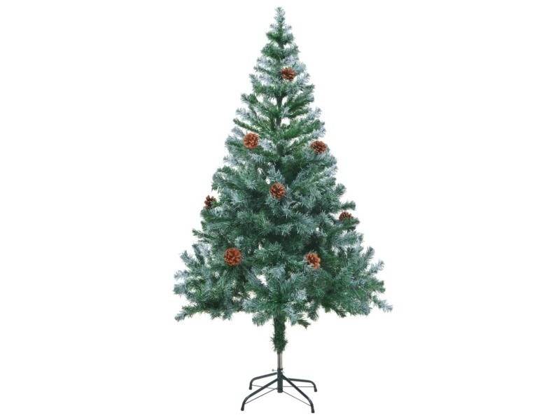 Vidaxl arbre de noël artificiel avec pommes de pin 150 cm 60177