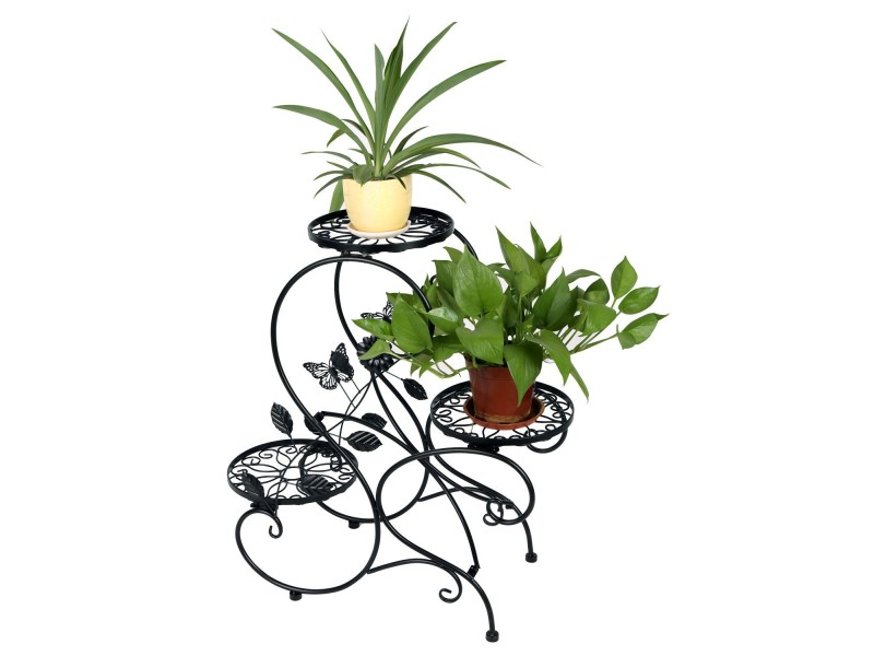 porte pot pots plante fleurs 3 etagere support jardin en. Black Bedroom Furniture Sets. Home Design Ideas
