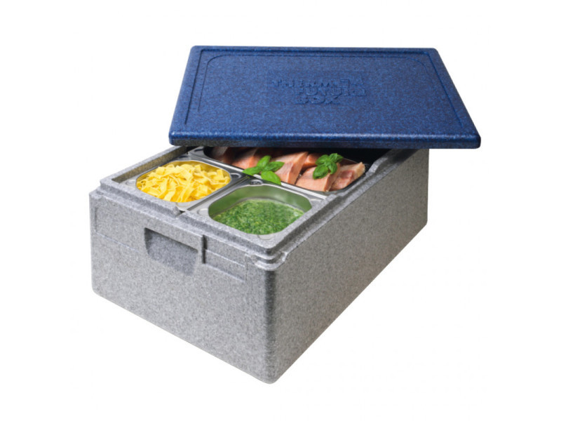 Conteneur isotherm gastronorm gn 1/1 gris-bleu 39l - thermo future box - 600