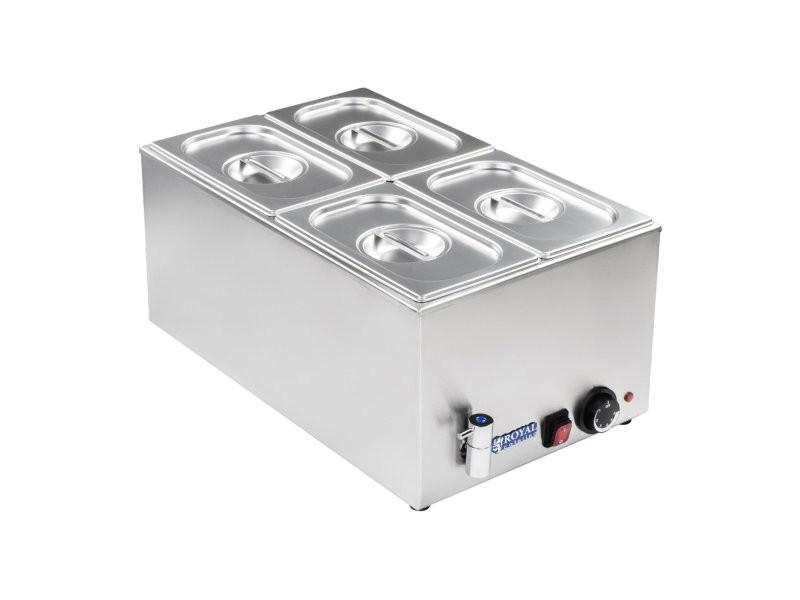 Bain-marie électrique professionnel bac gn 1/4 avec robinet de vidange 1 200 watts helloshop26 3614106