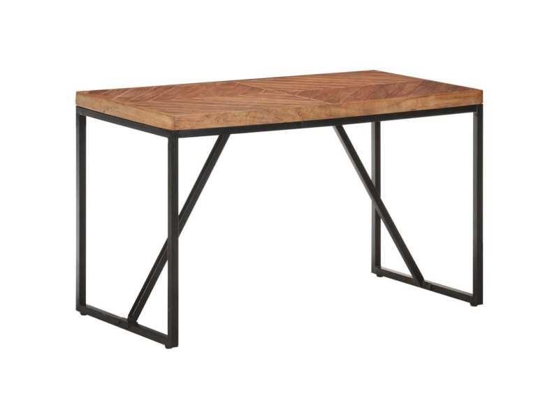 Vidaxl table à dîner 120x60x76 cm bois solide d'acacia et de manguier 323546
