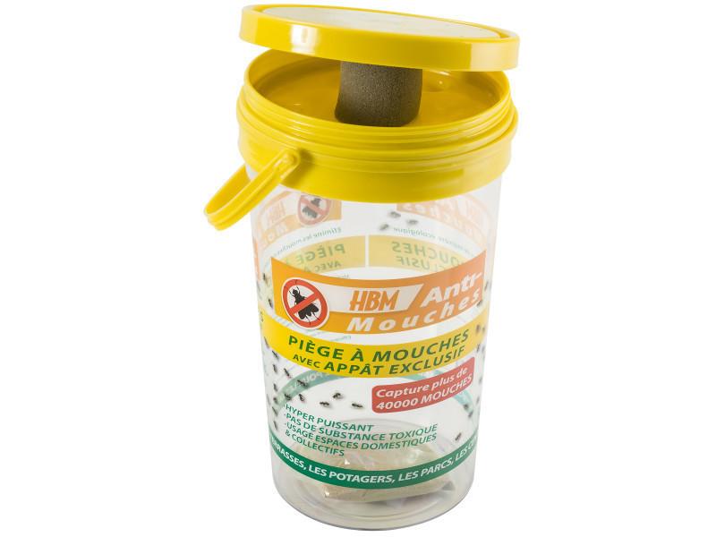 Entretien-phytosanitaire piège anti-mouche avec appât exclusif hyper puissant, spécial terrasse, jar