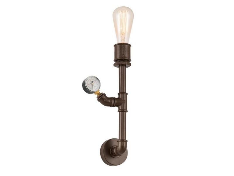 Homemania lampe murale metal applique - marron foncé en métal, 17 x 8 x 48 cm, 1 x e27, 40w