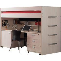 lit enfant beige conforama. Black Bedroom Furniture Sets. Home Design Ideas