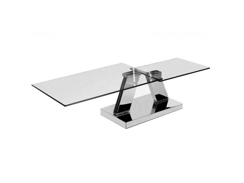 Table basse design twin glass à double plateaux pivotants 20100827342