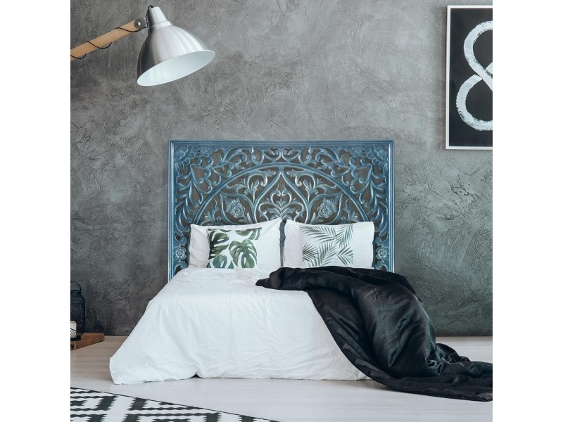 Tête de lit menara 180cm bois bleu
