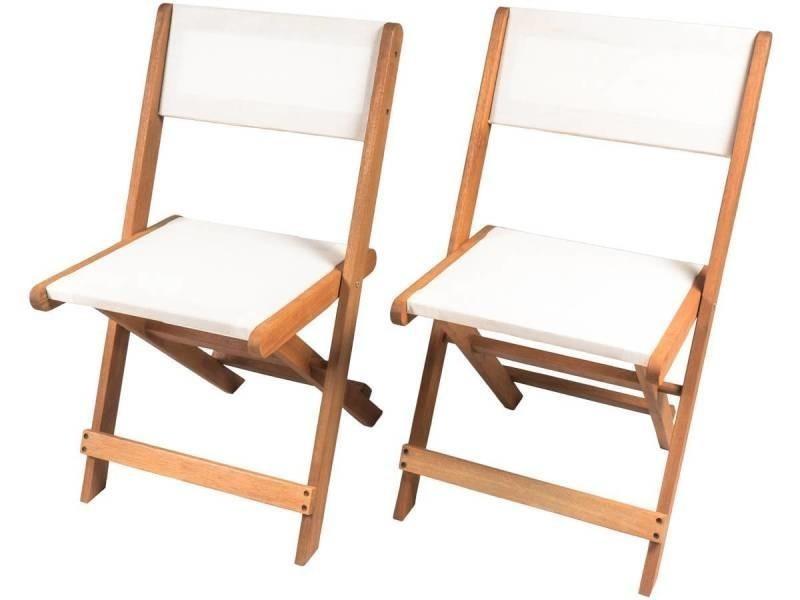 Chaise pliante en bois exotique \