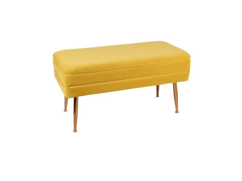 Banquette bibum jaune 79x41 cm