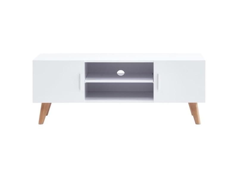 Vidaxl meuble tv blanc 120x40x46 cm mdf 247307