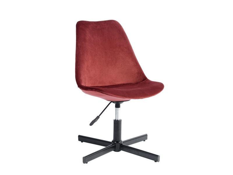 Milly chaise de bureau velours rouge vente de altobuy conforama