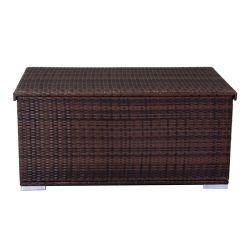 Coffre de rangement chocolat - nokanhu - l 132 x l 82 x h 61 - neuf