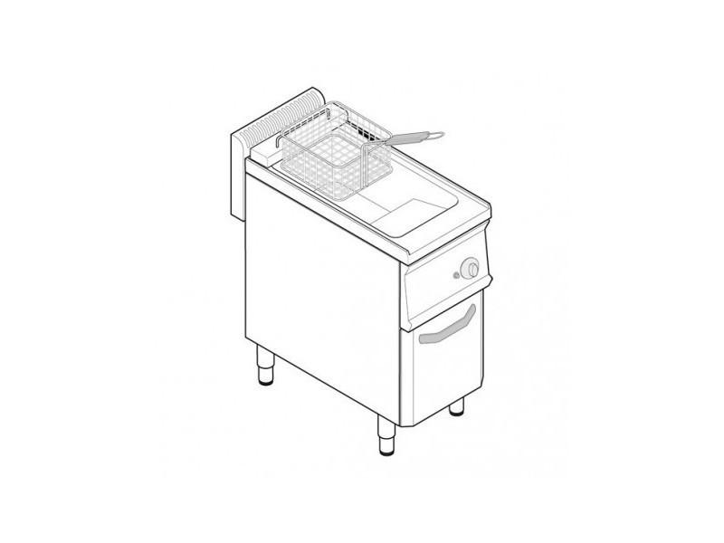 Friteuse sur coffre gaz - 14 litres - commandes mécaniques - gamme 700 - tecnoinox -