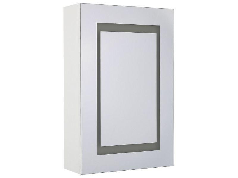Armoire de toilette blanche avec miroir led 40 x 60 cm malaspina 236806