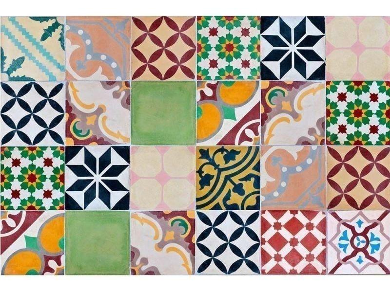 Contento - tapis intérieur extérieur en vinyle mosaique