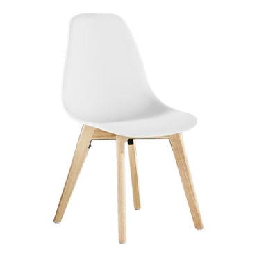 Rico chaise de salle à manger scandinave blanche salle à