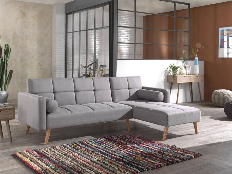 Zara Canape D Angle Reversible Convertible Au Style Scandinave En