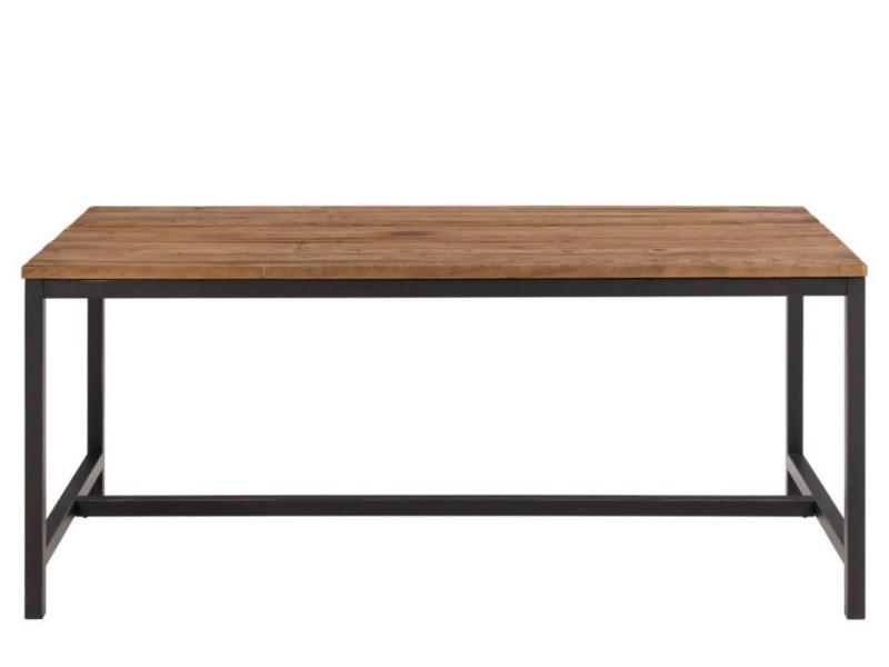 Table en bois et métal - aged