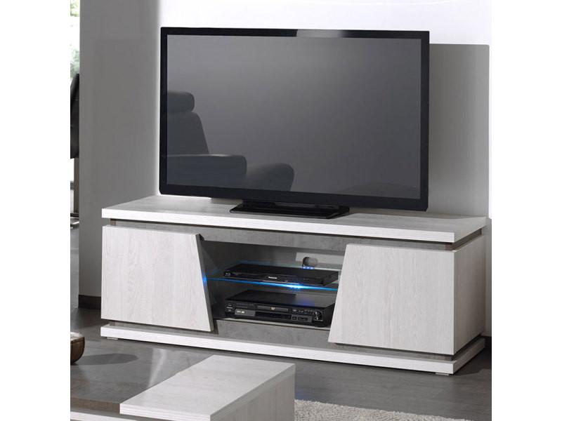 Meuble Tv Moderne Couleur Chêne Blanc Et Gris Dalie Vente De