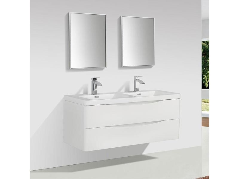 Meuble salle de bain design double vasque piacenza largeur ...