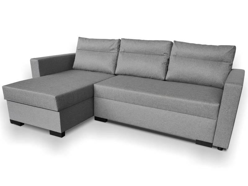 Canapé d'angle convertible copernic tissu gris