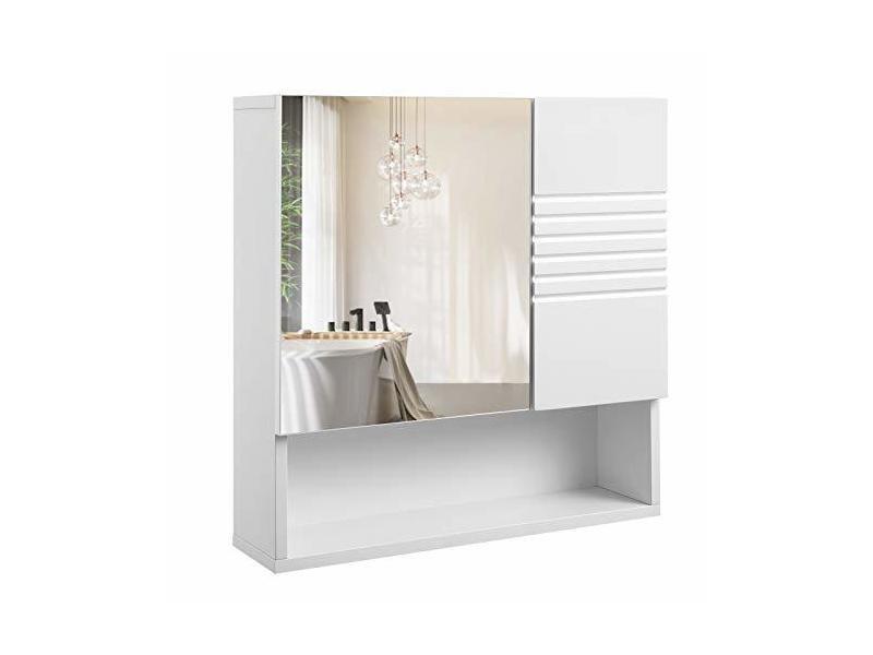 Meuble de salle de bain avec miroir, meuble de rangement ...