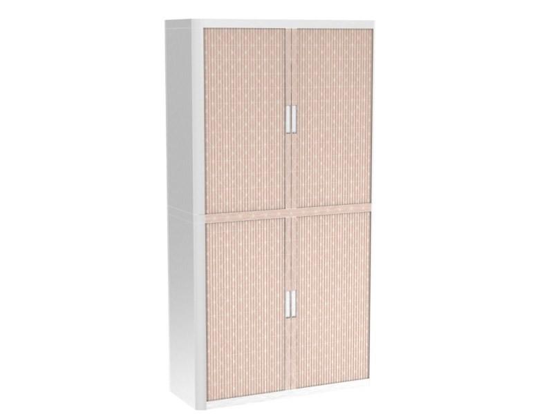 Armoire de bureau métalique porte coulissante h 2m - rosea