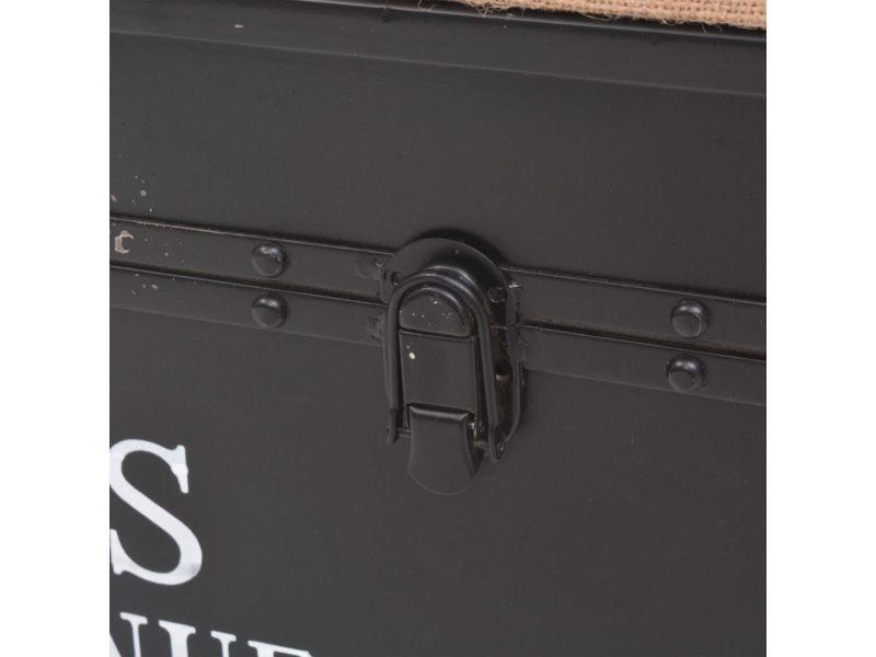 Icaverne - bancs coffres gamme banc de rangement avec coussin 103 x 30 x 40 cm