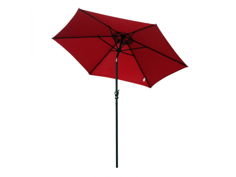 Parasol circulaire eva rouge