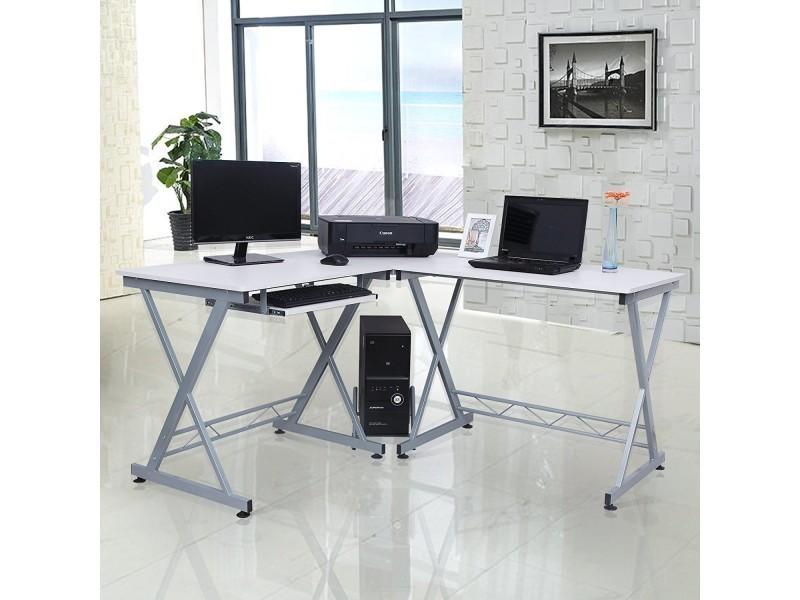 Superbe bureau informatique d angle blanc neuf sglcd w vente