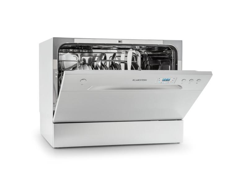 Klarstein amazonia 6 lave-vaisselle de table a+ 1380w 6 couverts 49 db argent