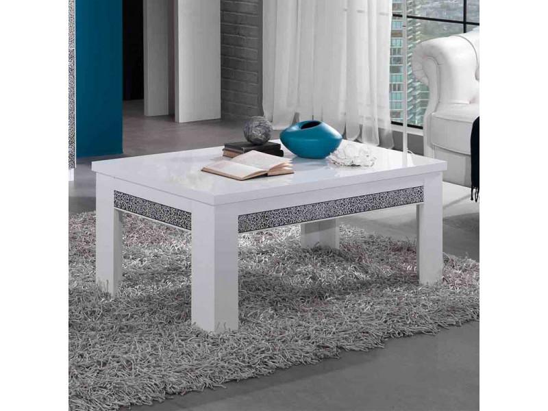 Table basse rectangulaire laqué blanc - crac - l 110 x l 60 x h 43 cm