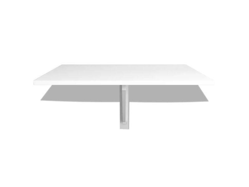 Vidaxl Table Murale Rabattable 100 X 60 Cm Blanc 243054