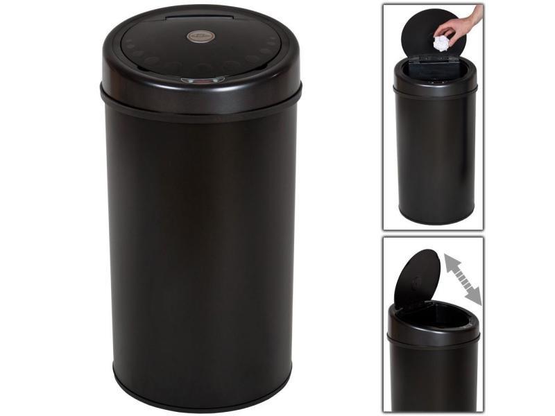poubelle automatique 50 litres noir pratique cuisine salle de bain helloshop26 2008091 vente. Black Bedroom Furniture Sets. Home Design Ideas