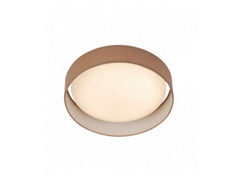 Plafonnier gianna 1 ampoule led abat-jour acrylique marron