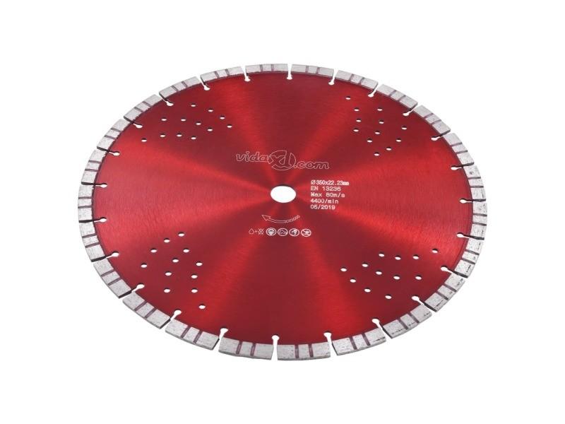 Icaverne - lames de scie edition disque de coupe diamanté avec turbo et trous acier 350 mm
